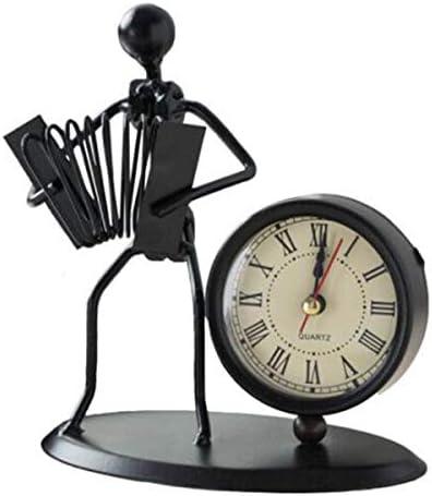 KUQIQI 時計の装飾、ヨーロッパの錬鉄、自転車ファッションのシンプルな装飾、サイレントクロック錬鉄の装飾時計 (Color : B)