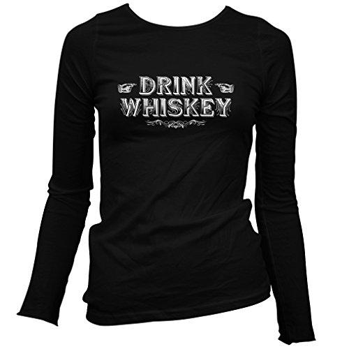 Seagrams Whiskey - Smash Vintage Women's Drink Whiskey Long Sleeve T-Shirt - Black, X-Large