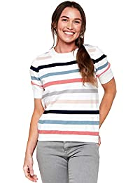 Women's Multi Stripe Pullover Sweater