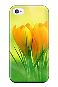 Skin Case For Sumsung Galaxy S4 I9500 Cover (green And Yellow Flowers) 8921264K75303720