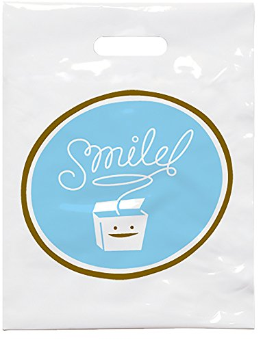 """Practicon 1109620 Smile Floss Patient Care Bags, 7-3/4"""" x 9"""" (Pack of 100)"""