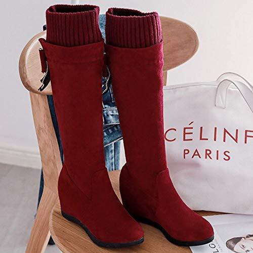 metà Stivali rosso Mode On a Donne Zanpa Pull Heels 1 wgFSaqc6Xv