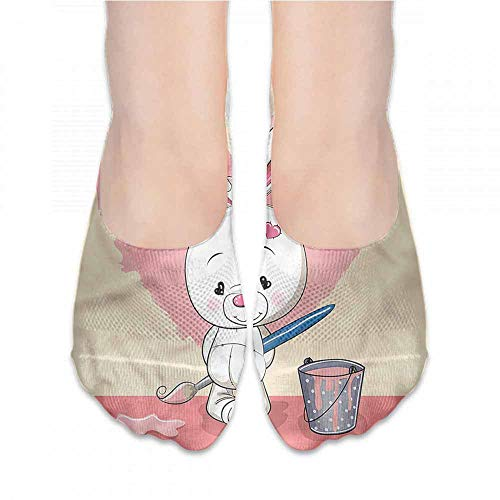 Running Fitness CrossFit S~XXL Rabbit,Cute Shy Pet Heart Shape,socks for flats -