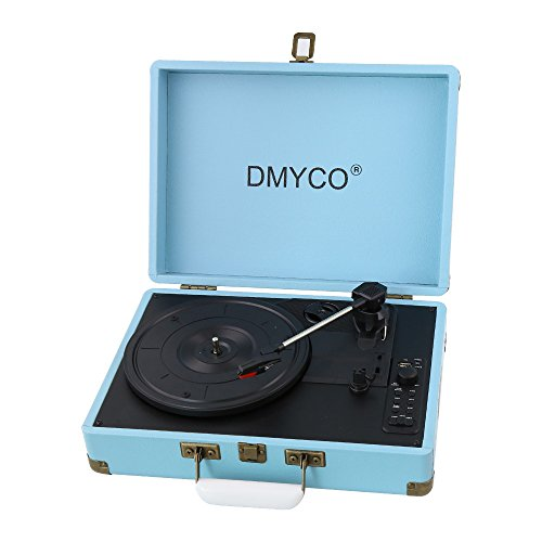 DMYCO Portable Turntable Speakers Headphone