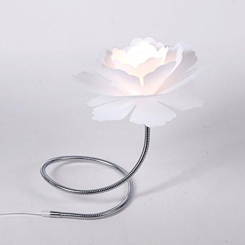 Outlet Fleurie Lampe Florcita Blanc Fleur Lampe De Table Pour