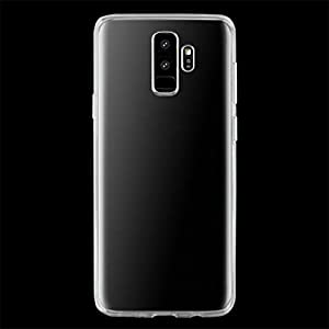 Silicone Transparent Soft Rubber Slim TPU Case Cover Skin For Samsung Galaxy S9 5.8inch/S9 Plus 6.2inch,Tuscom Clear Case Cover (Clear, S9 Plus 6.2inch)