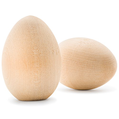Unpainted Wooden Goose Eggs Woodpeckers