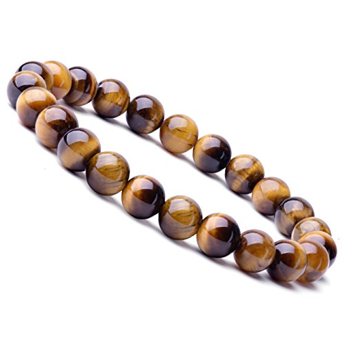 - WRCXSTONE Natural 8mm Gorgeous Semi-Precious Gemstones Healing Crystal Stretch Beaded Bracelet Unisex