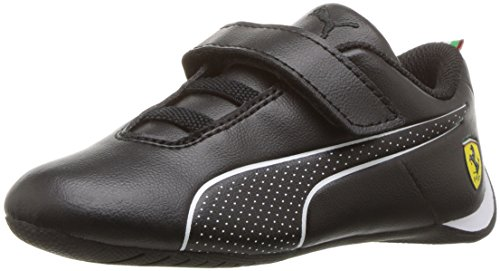 PUMA Baby Ferrari Future Cat Ultra Velcro Kids Sneaker, Black White, 9 M US - Ferrari Cat Future