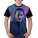 John Continental Hotel Assassin Killer Jonathan Wick T Shirt Short Sleeve Tee Shirts for Adult Men (Men-XL)