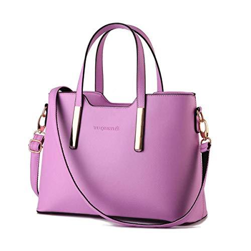 Capacidad color Bolso De Mensajero Eeayyygch Mujeres Hombro Gran Cuero La Púrpura Elegante Xx Manera Las large Señoras Tamaño Azul 7qBxdOBF