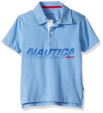Nautica Toddler Boys' Short Sleeve Heritage Polo Shirt, chip Corn Blue, 2T