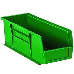 Aviditi BINP1144G Plastic Stack and Hang Bin Boxes, 10 7/8\