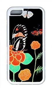 CSKFUBeautiful Butterfly Flower Thanksgiving Rubber(TPU) white Case for Masterpiece Limited Design iphone 6 5.5 plus iphone 6 5.5 plus by Cases & Mousepads