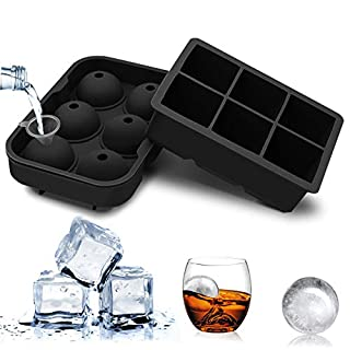 Silicone Ice Cube Trays,Easy Release Large Ice Cube Tray,Ice ball Trays with Lids
