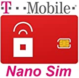 Red Pocket T-Mobile Compatible Nano SIM - Fits iPhone 5/5s/5c/6/6+