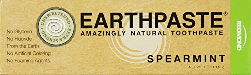 Redmond Earthpaste, Natural Non-Flouride Toothpaste, Spearmint, 4 Ounce