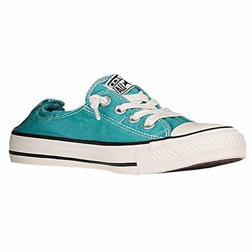 Converse Womens Shoreline Slip Fashion Sneaker Loafer Shoe, AEGEAN AQUA BLACK, 9.5 (Aqua Canvas)