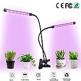 Growing Lamps Dual Head Grow Light LED Grow Light Adjustable Gooseneck 3/9/12H Timer