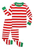 Family Feeling Little Girls Boys Matching Christmas Pajamas Sets 100% Cotton Sleepwears Toddler Kids Pjs Size 18-24 Months Striped
