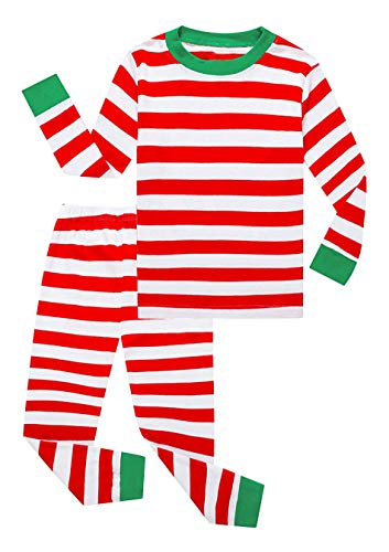 Family Feeling Little Girls Boys Matching Christmas Pajamas Sets 100% Cotton Sleepwears Toddler Kids Pjs Size 18-24 Months Striped ()
