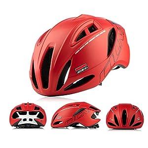 GYM Casque De Vélo Léger VTT Vélo Vélo for Équitation De Sécurité Légère Réglable Respirant Casque for Planche À roulettes Hommes Femmes Scooter Hoverboard Casque (Color : Red)