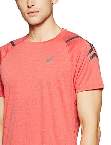 Course Icon Red T Vêtements Asics Bleu Shortsleeve shirt Foncé De Top Hommes 461qFT