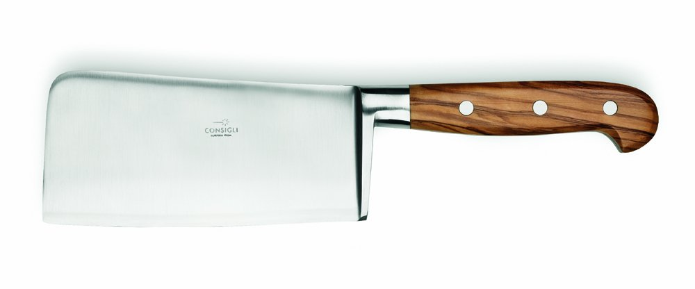 Consigli 6-1/3-Inch Blade Olive Wood Handle Cleaver Knife
