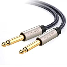"UGREEN Gold Plated Premium 6.35mm Mono Jack 1/4"" TS Cable Unbalanced Guitar Patch Cords/Instrument Cable Male to Male with Zinc Alloy Housing and Nylon Braid (3M/10ft)"