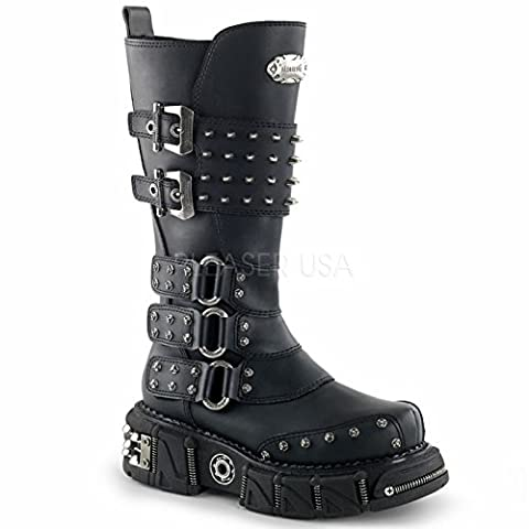 Demonia Unisex Dma 3004 Boot,Black,10 M - Demonia Gothic Boots