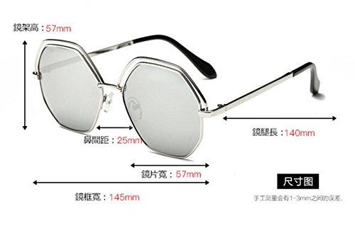 de doble sol de de círculo frame Gold moda gafas sol and gafas green señoras gran Hueco silver gafas sol LSHGYJ GLSYJ q0IPY6