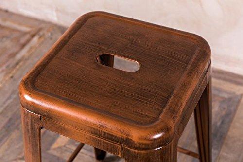 Peppermill antiques sgabelli da bar in metallo stile tolix colore