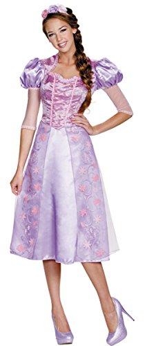 Disney Princess Deluxe Womens Rapunzel Costumes (Deluxe Rapunzel Adult Costume - Medium)