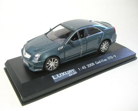 Model Power 100440 1:43 Die-Cast 2009 Cadillac CTS-V, Crystal Gray (Cadillac 2009 Cars)