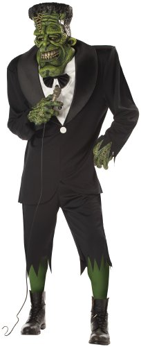 Frank Halloween Costume (Big Frank Adult Mens Frankenstein Halloween Costume)