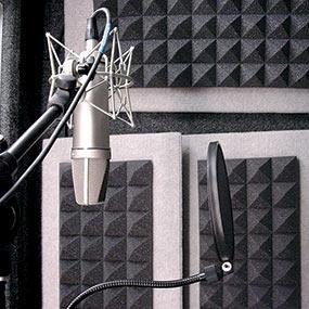 Auralex Studiofoam Pyramid panels (2 foot x 2 foot) used in a recording studio