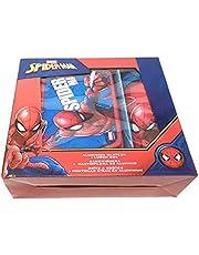 Theonoi 2-delig ontbijtset voor kinderen, naar keuze: Cars - Paw Patrol - Spiderman - Avengers. 1 x broodtrommel sandwichbox EN 1 x aluminium fles/drinkfles aluminium voor jongens (Spiderman)