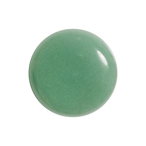 Beadaholique Green Aventurine Gemstone Round Flat-Back Cabochons 25mm (1 - Cabochon Gems Aventurine