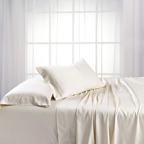 Royal Hotel ABRIPEDIC Bamboo Sheets, 600 Thread Count, Silky Soft Sheets 100% Viscose from Bamboo Sheet Set, King, Ivory