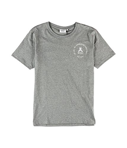 (WeSC Men's Icon Circle T-Shirt, Grey Melange, X-Large)