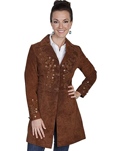 Scully Womens Embroidered Leather Jacket