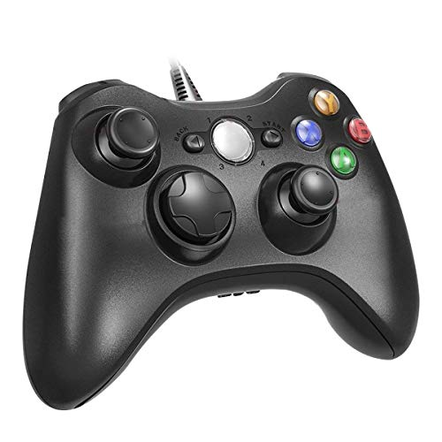 (RegeMoudal Xbox 360 PC Game Wired Controller for Microsoft Xbox 360 and Windows PC (Windows 10/8.1/8/7) with Dual Vibration and Ergonomic Wired Game Controller.)