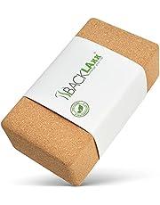 BACKLAxx® Yogablok van kurk - 100% natuurlijk yogablok duurzaam - yogablok huidvriendelijk en ecologisch geproduceerd incl. applicatiefolie