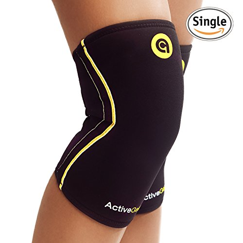 ActiveGear Knee Brace Support Heavy Duty Neoprene Sport Compression Sleeve (Neoprene Sports Knee Brace)
