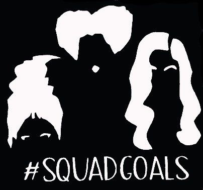 Hocus Pocus Squad Goals White Decal Vinyl Sticker|Cars Trucks Vans Walls Laptop| White |5.5 x 5 in|LLI602 -