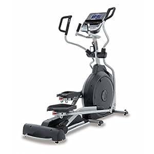 Spirit Elliptical XE 395 - Bicicleta elíptica, Cross Trainer con sensores de pulso de mano, ergómetro, cardio fitness