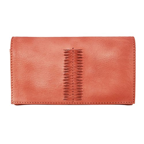 Latico Leathers Cameron Wallet Genuine Authentic Luxury Leather, Designer Made, Business Fashion and Casual Wear, Washed Red by Latico (Image #3)