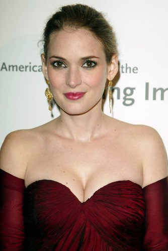 Winona Ryder Sexy Busty Color Poster