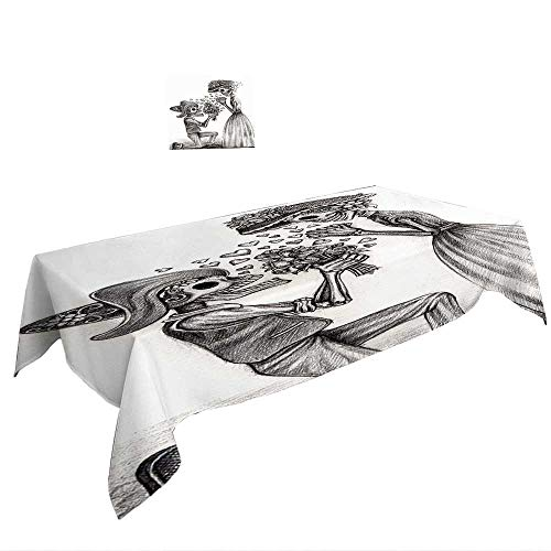 Warm Family Rectangle Tablecloth Day of The Dead