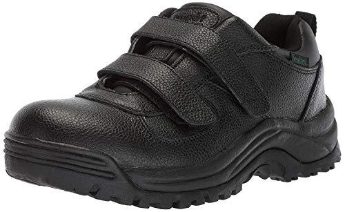 Propet Men's Cliff Walker Low Strap Ankle Boot, Black Grain, 8.5 5E -
